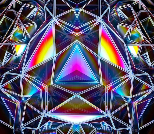 Rendu 3d de l'art abstrait avec la magie surréaliste festive cyber fractale 3d futuriste