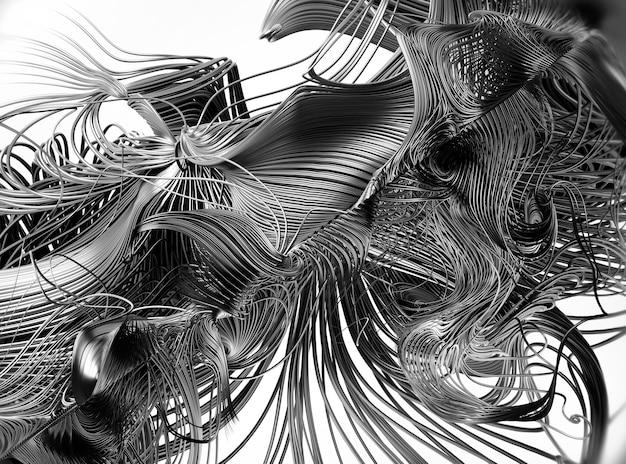 Rendu 3d de l'art abstrait de surréaliste