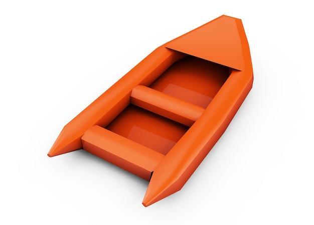 Rendu 3d de bateau gonflable