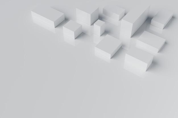 Rendu 3d de bloc de cube blanc abstrait