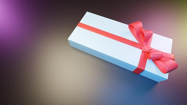 Rendu 3d de boîte blanche cadeau