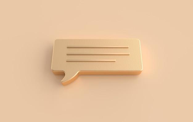 Rendu 3d de bulle de conversation. concept de commentaires sur les réseaux sociaux, messages, sms.