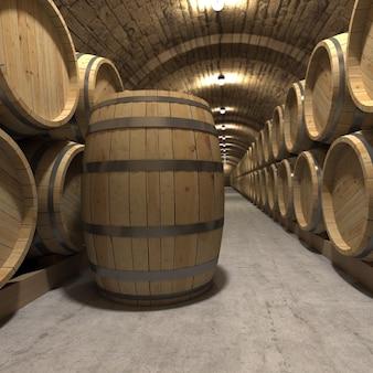 Rendu 3d d'une cave à vin