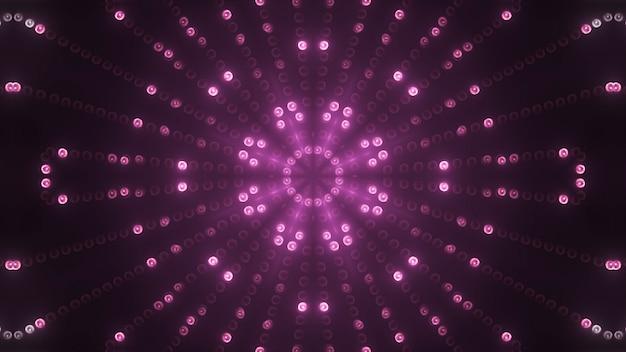 Rendu 3d cercle rose conduit fond vj