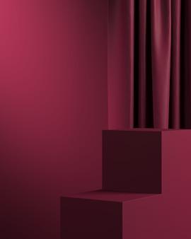 Rendu 3d de la composition abstraite pour la présentation du produit