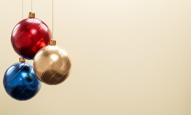 Rendu 3d. concept de noël et nouvel an