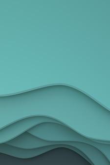 Rendu 3d, conception de fond d'art abstrait papier découpé, fond abstrait