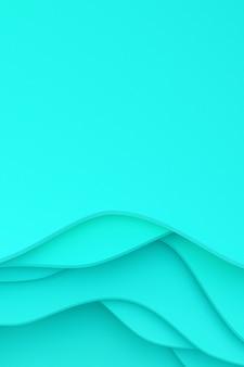 Rendu 3d, conception de fond art abstrait papier découpé pour modèle d'affiche, motif abstrait