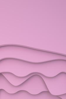 Rendu 3d, conception de fond d'art abstrait papier découpé pour modèle d'affiche
