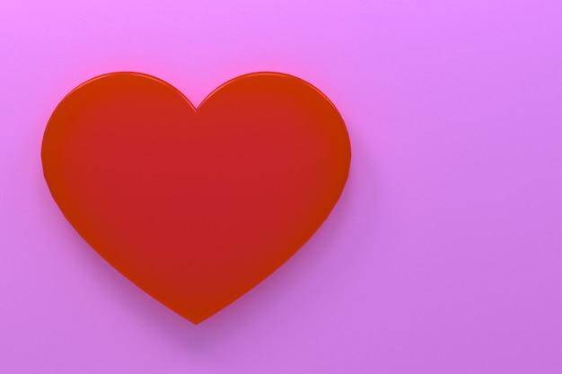 Rendu 3d de conception minimale d'amour