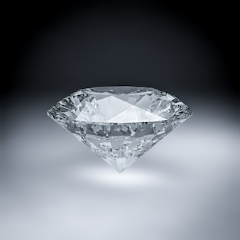Rendu 3d de diamant.
