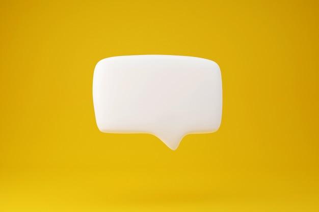 Rendu 3d de discours de conversation de zone de texte blanche