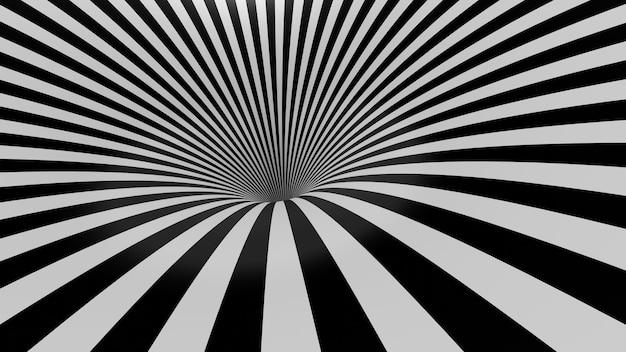 Rendu 3d du cadre d'essuyage abstrait trou noir