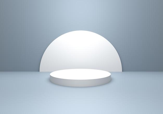 Rendu 3d du concept minimal abstrait vide gris argent