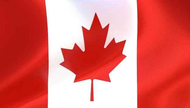 Rendu 3d du drapeau du canada avec texture
