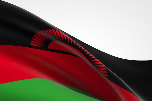 Rendu 3d du drapeau malawien.