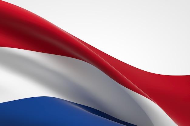 Rendu 3d du drapeau néerlandais.