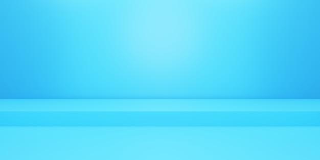Rendu 3d du fond bleu minimal du podium vide scène pour les publicités cosmétiques de conception