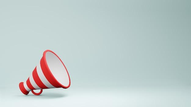 Rendu 3d du haut-parleur mégaphone