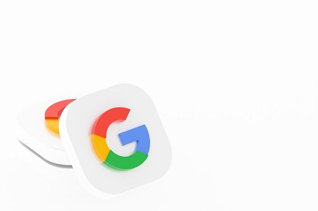 Rendu 3d du logo de l'application google sur fond blanc