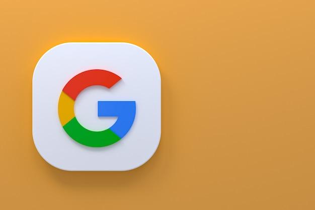 Rendu 3d du logo de l'application google