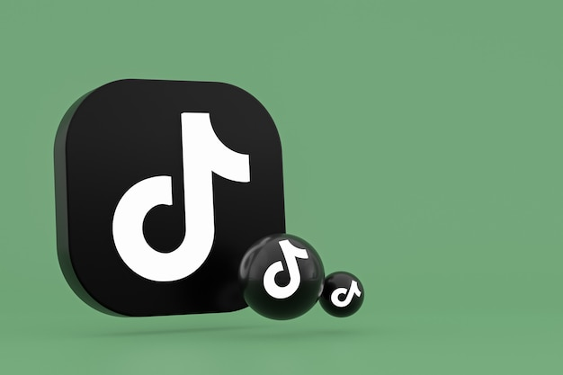 Rendu 3d du logo de l'application tiktok