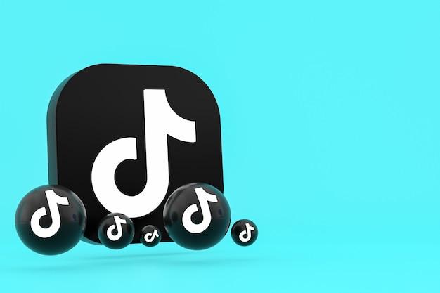Rendu 3d du logo de l'application tiktok