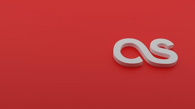 Rendu 3d du logo lastfm avec copyspace