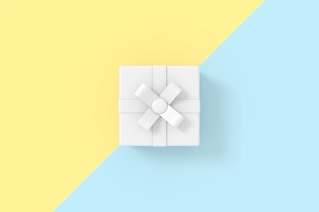 Rendu 3d du modèle de boîte-cadeau.
