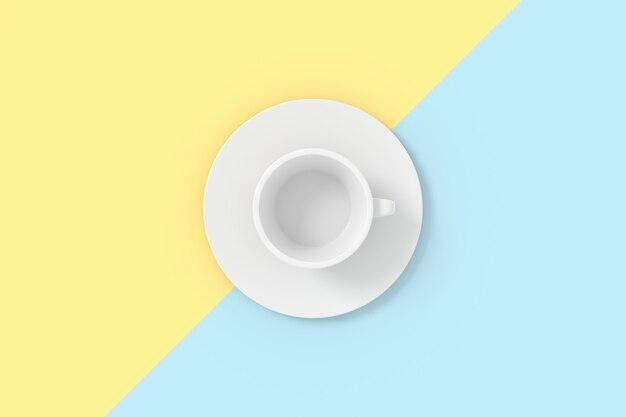 Rendu 3d du modèle de tasse de café.
