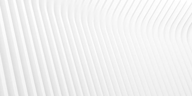 Rendu 3d du motif abstrait blanc.