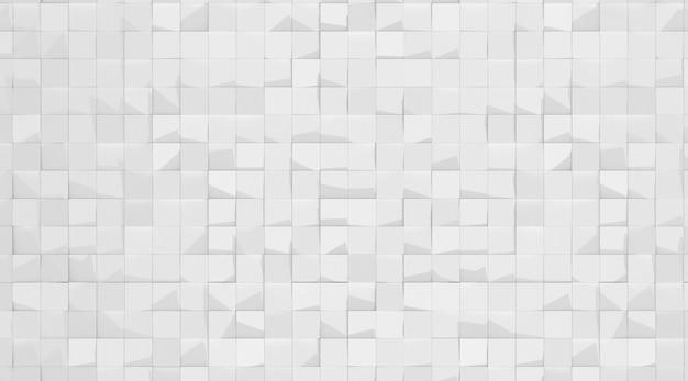 Rendu 3d du motif de géométrie abstraite blanche.
