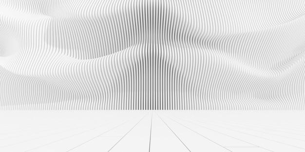 Rendu 3d du motif paramétrique abstrait.