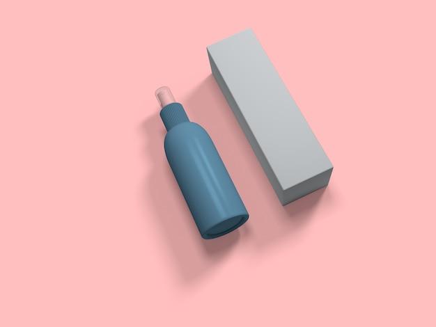 Rendu 3d du nettoyant pour les mains pour la désinfection covid,
