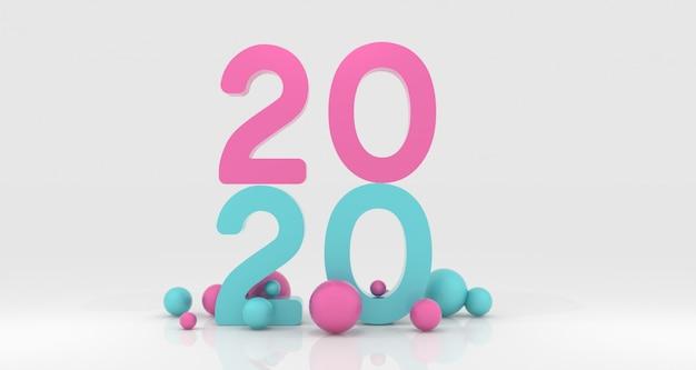 Rendu 3d du nouvel an 2020
