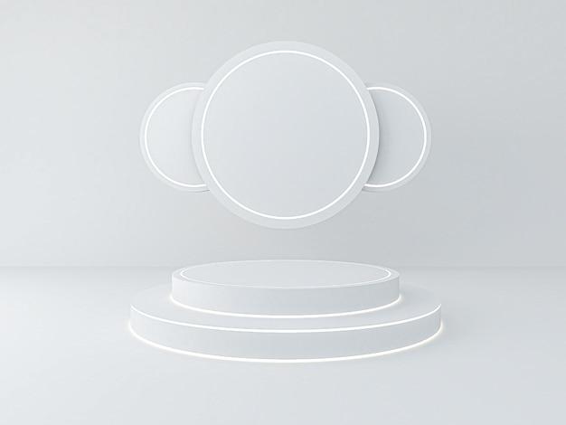 Rendu 3d du podium de cercle pour le produit du spectacle