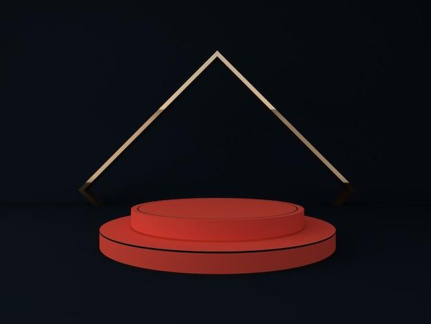 Rendu 3d du podium de cercle pour le produit d'exposition et l'espace pour le texte
