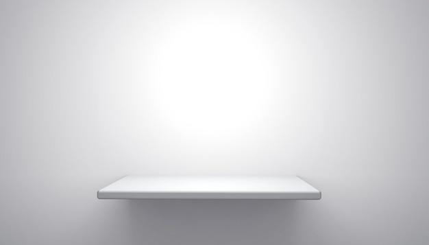 Rendu 3d du socle blanc pour l'affichage du produit