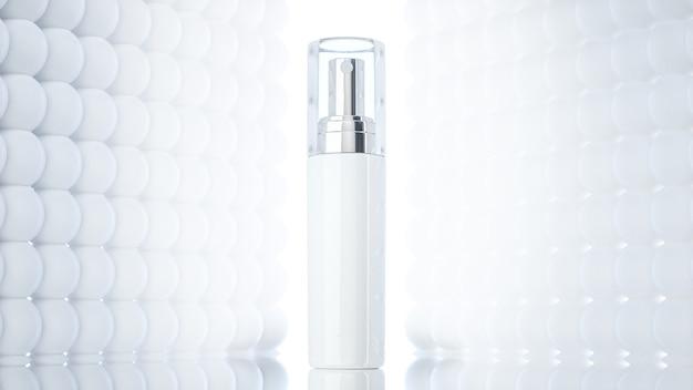 Rendu 3d du spray de parfum pour l'affichage du produit