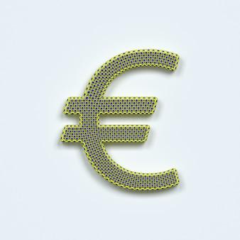 Rendu 3d du symbole de l'euro