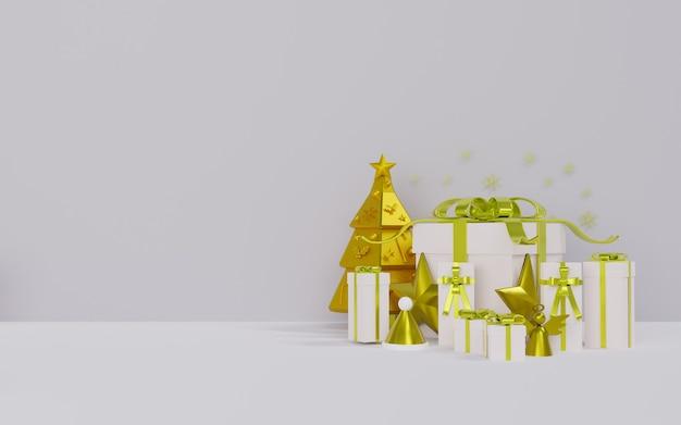 Rendu 3d Du Thème Du Podium Pour Noël Photo Premium