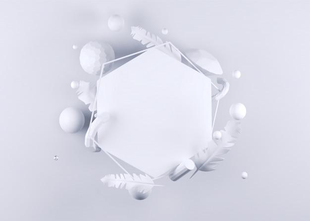 Rendu 3d d'éléments en cristal tels que diamant, tubes et plume