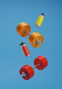 Rendu 3d équipement de fitness