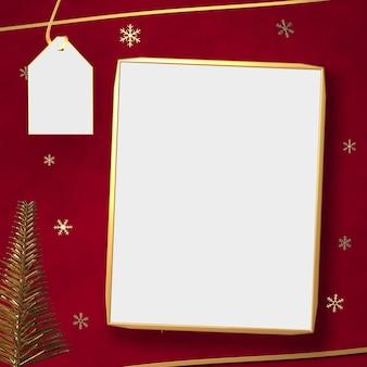 Rendu 3d de l'espace blanc en toile de fond rouge, espace pour afficher les marchandises en chrismast