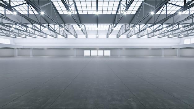 Rendu 3d de l'espace d'exposition vide