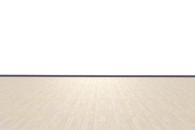 Rendu 3d étage vide isolé sur blanc