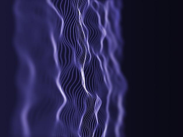 Rendu 3d d'un flux de particules moderne avec une faible profondeur de champ