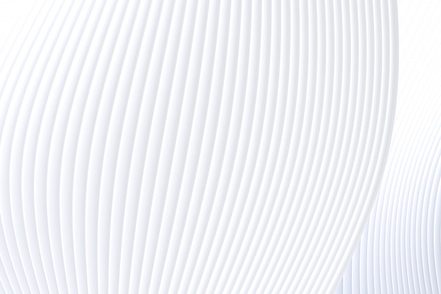 Rendu 3d, fond abstrait architecture vague de mur blanc, fond blanc pour présentation, portfolio, site web