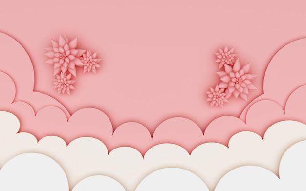 Rendu 3d de fond abstrait avec une décoration simple