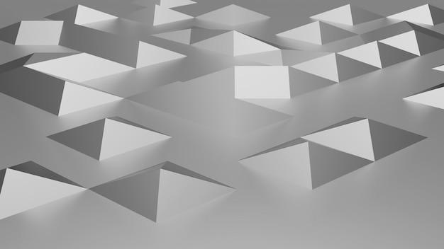Rendu 3d de fond abstrait en métal argenté